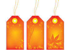 Herbstverkaufsmarken lizenzfreie abbildung