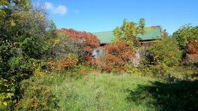 Herbstwanderwegscheune Lizenzfreie Stockfotos