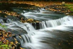 Herbstwasserfall in Estland stockfotos