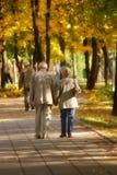 Herbstweg Lizenzfreies Stockfoto