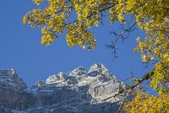 Herbstzeit am kleinen Ahornboden lizenzfreie stockbilder
