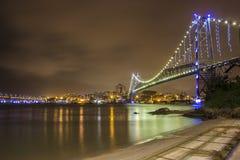 Hercílio Luz Bridge - Florianopolis - SC - Brasilien royaltyfria bilder