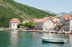Herceg Novi прибрежный город в Черногории размещало на entra Стоковая Фотография