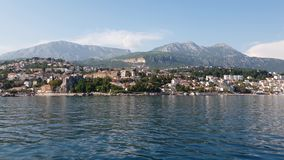 Herceg Novi ancient town in Kotor bay in Montenegro stock video footage