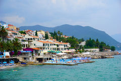 Herceg Novi is a coastal town in Montenegro located at the entra Royalty Free Stock Images