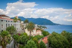 Herceg Novi e a baía de Kotor ajardina Imagens de Stock