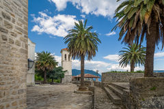 Herceg Novi fortress Fort Mare pedestrian routes Royalty Free Stock Image
