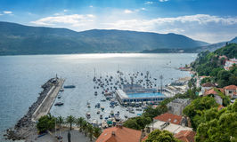 Herceg Novi harbor royalty free stock photography