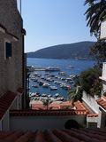 photo taken from the heights of the citadel of Herceg novi stock photography