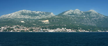 Herceg Novi, Montenegro. City Herceg Novi in Montenegro from ship royalty free stock image