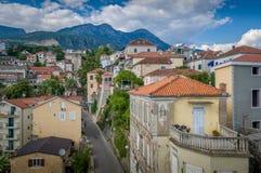 Herceg Novi stara ulica i, edieval ściany zdjęcia stock