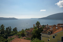 Herceg Novi, sun days. Herceg Novi was founded on a former small fishing village, existing since Roman Empire times as a fortress in 1382 by first Bosnian King Stock Photography