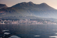 Herceg Novi on sunrise Royalty Free Stock Images
