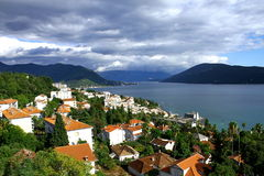 Herceg Novi view from the top Stock Images