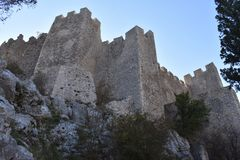 Herceg Stjepan`s medieval fortress in the Blagaj. Bosnia and Herzegovina royalty free stock images