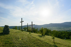 Hercegkut near Sarospatak calvary in Hungary Royalty Free Stock Photo