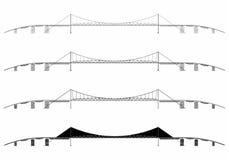Hercilio Luz Bridżowy prosty linia horyzontu ilustracja wektor