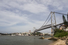 Hercílio Luz Bridge - Florianopolis - SC - Brazil Stock Images