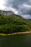 Herculane Landscape. A beautiful place: sky, forest, lake and mountains Royalty Free Stock Photo