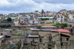 Herculaneum, Ιταλία - 10 Ιουνίου: Archeological περιοχή Herculaneum επάνω Στοκ Εικόνες