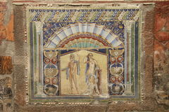 Herculaneum. Ancient Roman town of Herculaneum, Italy; destroyed by the eruption of Mount Vesuvius AD79 royalty free stock image