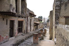 Herculaneum. Ancient Roman town of Herculaneum, Italy; destroyed by the eruption of Mount Vesuvius AD79 stock image