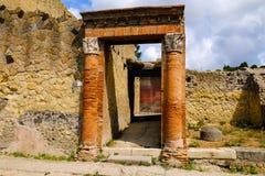 Herculaneum, antyczny Roma?ski miasteczko Brama willa, Ercolano, Włochy zdjęcie stock