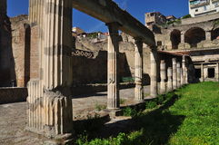 Herculaneum archaeological site by Naples, Italy. Royalty Free Stock Photos