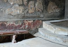 Herculaneum Bath House Royalty Free Stock Image