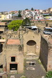 Herculaneum-bird's eye view-I-Italy Royalty Free Stock Photos