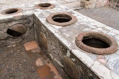 Herculaneum che cucina i POT immagine stock libera da diritti