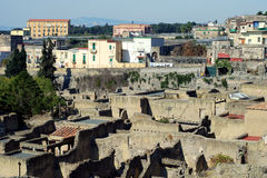 Herculaneum in Ercolano. Excavation of Herculaneum city in Ercolano in Italy stock image