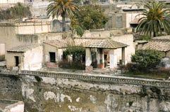 Herculaneum excavations details stock photo