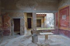 Herculaneum fördärvar, Naples, Italien Arkivbilder