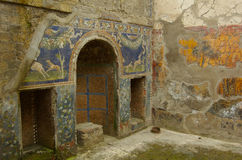 Herculaneum Home Interior. The interior of a Roman home preserved by volcanic ash fall Royalty Free Stock Photography