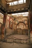 Herculaneum, Campania, Italy. Herculaneum Interior in portrait mode Stock Photo
