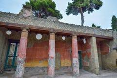 Herculaneum, ITALIË - JUNI 01: Ruïnes van de Herculaneum de oude roman stad, Italië op 01 Juni, 2016 Royalty-vrije Stock Afbeelding
