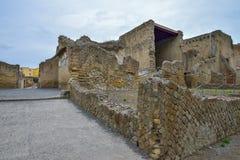 Herculaneum, ITALIË - JUNI 01: Ruïnes van de Herculaneum de oude roman stad, Italië op 01 Juni, 2016 Stock Afbeelding