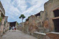 Herculaneum, ITALY - JUNE 01: Herculaneum ancient roman city ruins, Italy on June 01, 2016 Stock Image