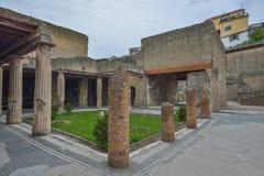 Herculaneum, ITALY - JUNE 01: Herculaneum ancient roman city ruins, Italy on June 01, 2016 Royalty Free Stock Photography