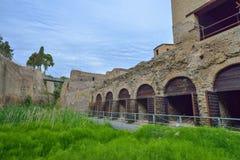 Herculaneum, ITALY - JUNE 01: Herculaneum ancient roman city ruins, Italy on June 01, 2016 Stock Photos