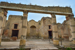 Herculaneum, ITALY - JUNE 01: Herculaneum ancient roman city ruins, Italy on June 01, 2016 Stock Images