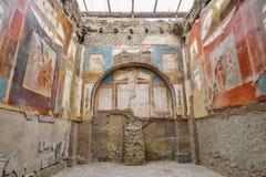 Herculaneum, ITALY - JUNE 01: Herculaneum ancient roman city ruins, Italy on June 01, 2016 Royalty Free Stock Photo