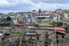 Herculaneum, Italy - June 10: Herculaneum archeological site on Stock Photo