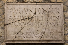 Herculaneum Latin Plaque Stock Photography