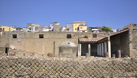 Herculaneum and modern Ercolano Royalty Free Stock Images