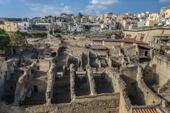Herculaneum,Naples Italy Stock Photo