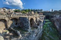 Herculaneum, Naples Włochy obraz royalty free