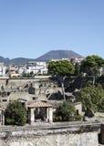 Herculaneum and Vesuvius Stock Photography