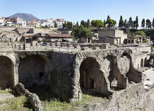 Herculaneum and Vesuvius Royalty Free Stock Photo